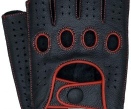 Mens and ladies leather driving gloves